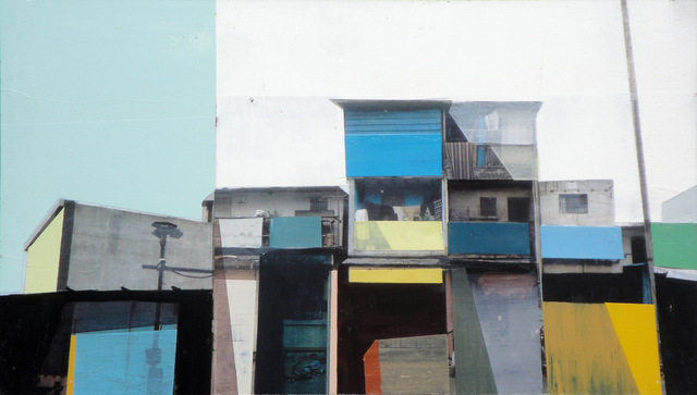 Siddharth Parasnis, 'Cityscape #17', 2018, Painting, Mixed media on panel (framed), Sue Greenwood Fine Art