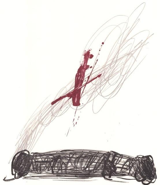 Antoni Tàpies, 'Rouge sur crayon', 1970-1980, ARTEDIO