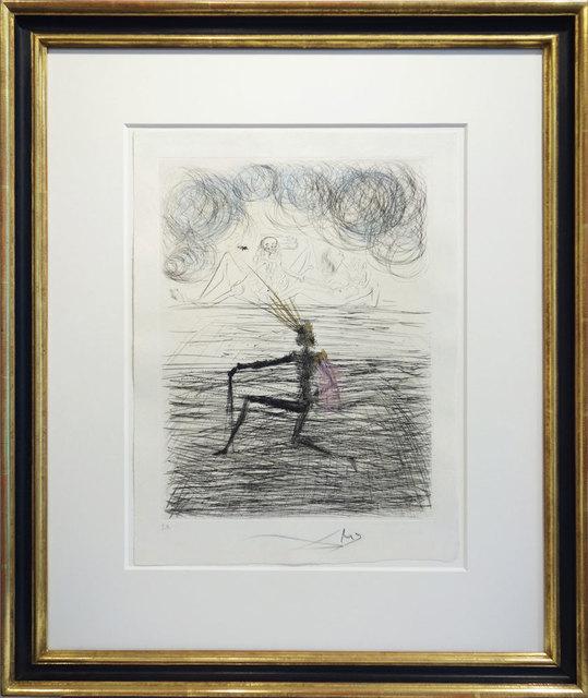 Salvador Dalí, 'Kniender Ritter', 1968, Print, Hand-colored Etching on Japon nacré, Galerie Kellermann