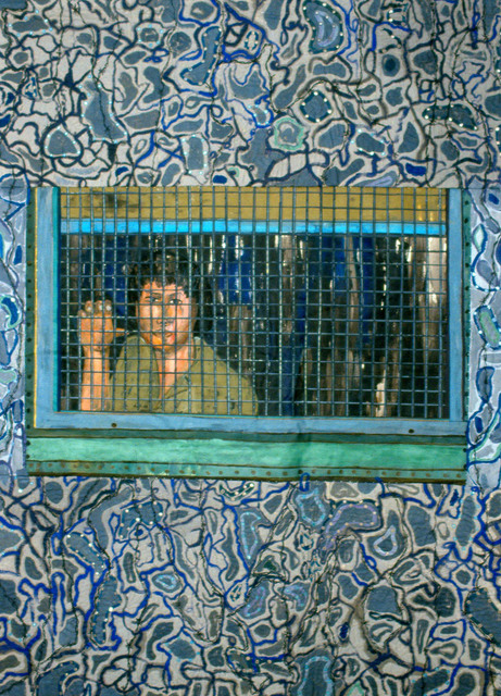 , 'Caught at the border,' 1991, Pacita Abad Art Estate