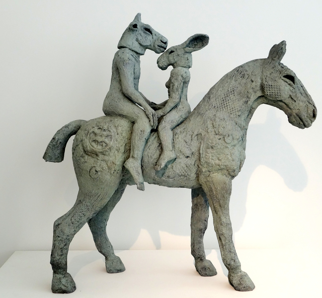 , 'Lovers on Horseback (Maquette),' 2013, Galerie de Bellefeuille