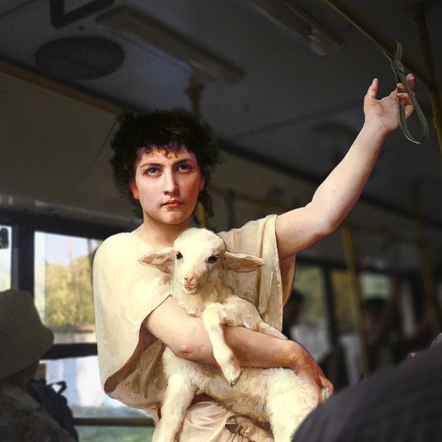 """Alexey Kondakov, 'Elizabeth Jane Gardner Bouguereau """"The Shepherd David"""". Kyiv, Boryspilska Str.  ', 2017, Port agency"""