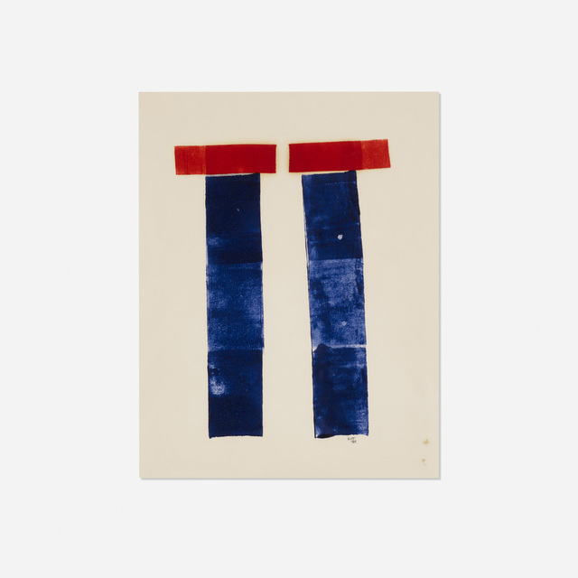 Lyman Kipp, 'Untitled', 1969, Drawing, Collage or other Work on Paper, Rolled printer's ink on paper, Rago/Wright