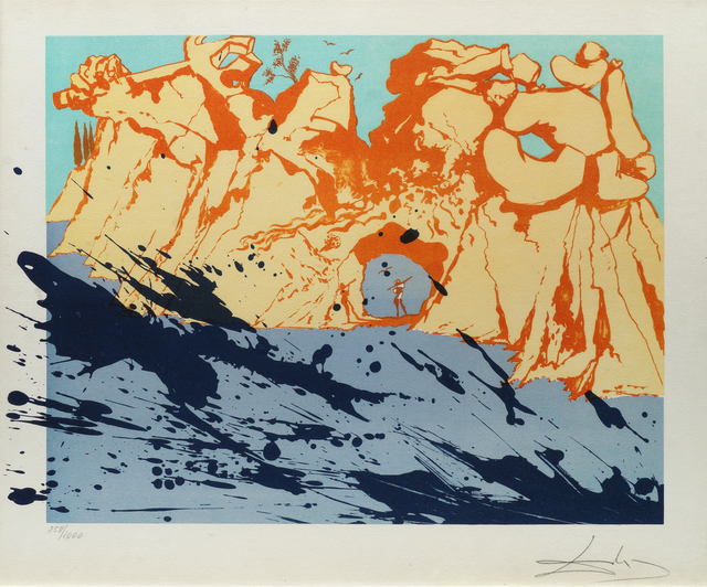 Salvador Dalí, 'Costa Brava', 1971, Print, Lithograph Printed In Colours On Munne, Roseberys