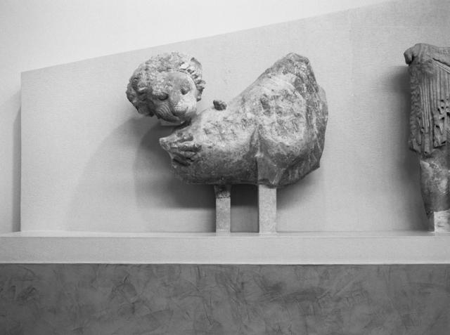 , 'Lion dévorant un animal sans défense, fronton oriental du temple archaïque d'Apollon, 510-500 av. J.-C., Musée de Delphes,' 2018, PARISIAN LAUNDRY