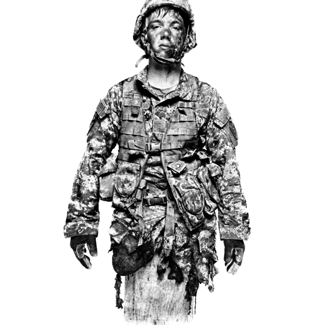 , 'SERVICE: Vincent Butto, plays a solider who has suffered a sever injury at the NTC, Fort Irwin.,' 2008, Milk Gallery