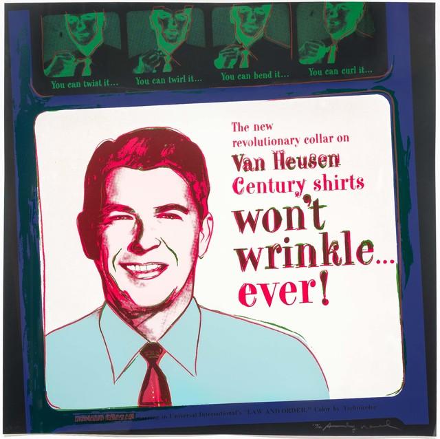 Andy Warhol, 'Van Heusen (Ronald Reagan), from Ads', 1985, Leslie Sacks Gallery