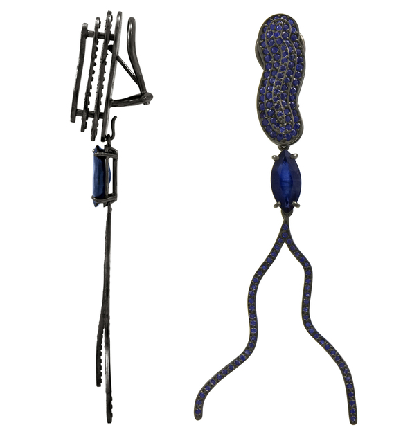 William Ehrlich, 'Calm Link / Victoria Earrings with Sapphire Drops', Jason Jacques Gallery