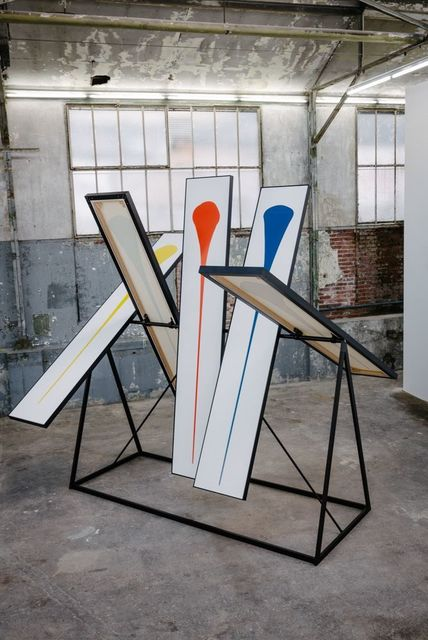 , 'Rotating Stand (Red, Blue, Yellow, Green, Orange),' 2015, untilthen
