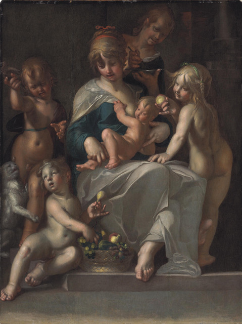 Joachim Anthonisz Wtewael, 'Charity', Painting, Oil on panel, Christie's Old Masters