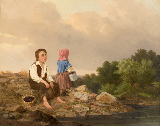 , 'The Berry Pickers,' 1862, Godel & Co.