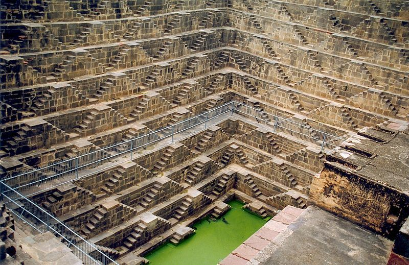 Image: Chand Baori, in the village of Abhaneri near Bandikui, Rajasthan, 2003. 
