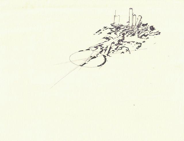 Syd Mead, 'Concept Sketch for Aliens Game, Mars Colony Concept Design ', 2007, Edward Cella Art and Architecture