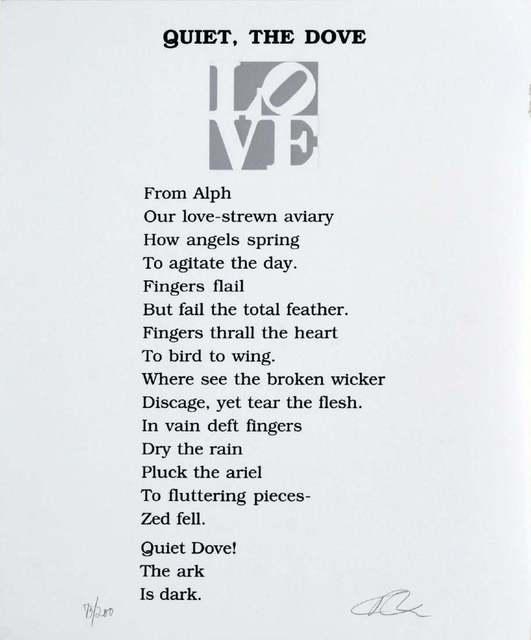Robert Indiana, 'Quiet, The Dove', 1996, Fast Art