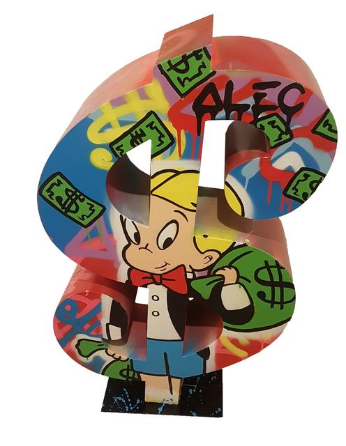 , 'Dollar Richie with money bag,' 2017, Eden Fine Art