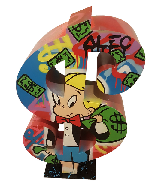 Alec Monopoly, 'Dollar Richie with money bag', 2017, Eden Fine Art