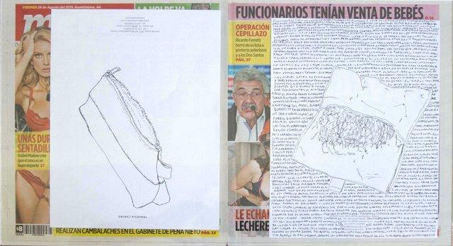 , 'Political Drawing (Metro: Guadalajara, Mexico, Viernes 28 Agosto 2015),' 2015, Travesia Cuatro