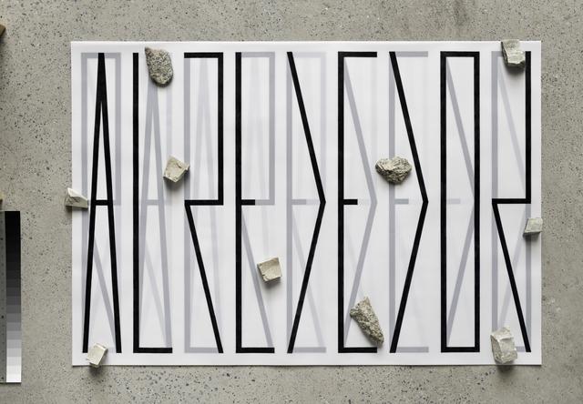 , 'Alrededor (tipografia interna-topografia externa),' 2014, Galeria Luisa Strina