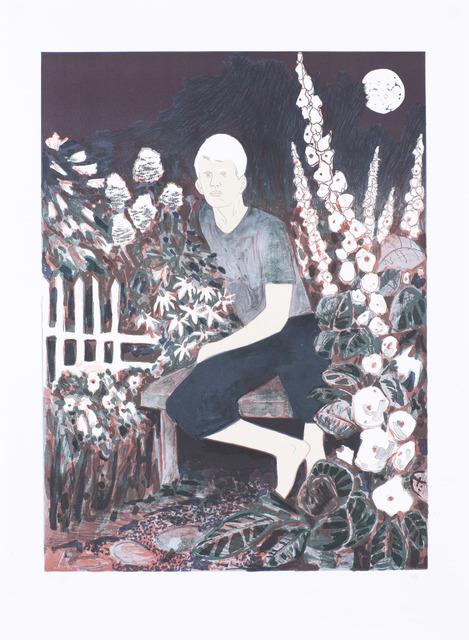 Hernan Bas, 'The Albino in the Moonlight Garden', 2010, Print, Original Lithograph, Edition Copenhagen