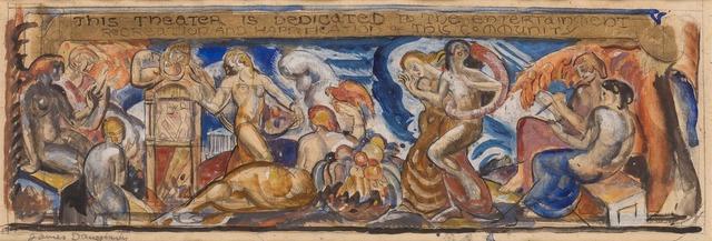 James Daugherty, 'Mural Sketch', Doyle