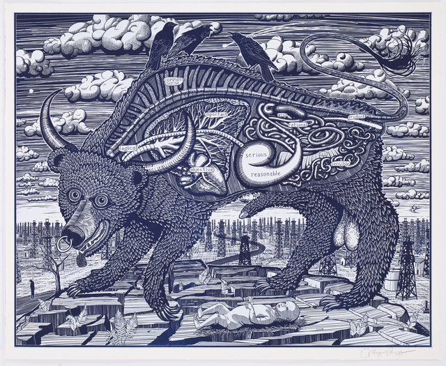 , 'Animal Spirit (Blue),' , Castlegate House Gallery