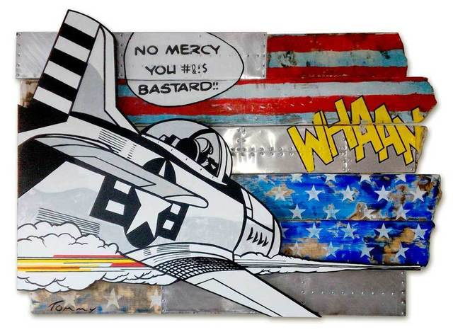 Tommy, 'Jet Fighter', 2015, Painting, Recycled wood on Aluminum sheets. Printed in Acrylic transfer, Eden Fine Art