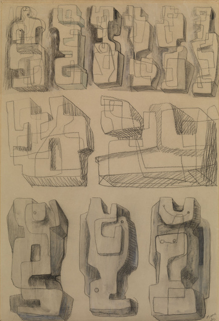 , ' Square Forms - Eleven studies for sculptures,' 1936, Waterhouse & Dodd
