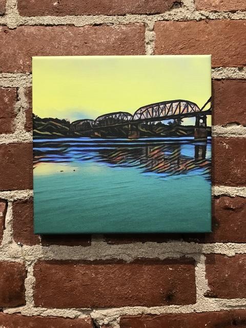 , 'New Harmony Bridge with Yellow Sky,' 2018, Mason-Nordgauer Fine Arts Gallery