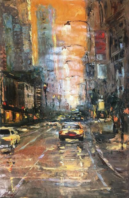 Elena Bond, 'Orange Sky NY', Baterbys Art Gallery