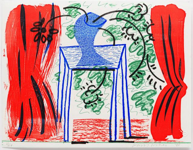 David Hockney, 'Still Life with Curtains', 1986, Leslie Sacks Gallery