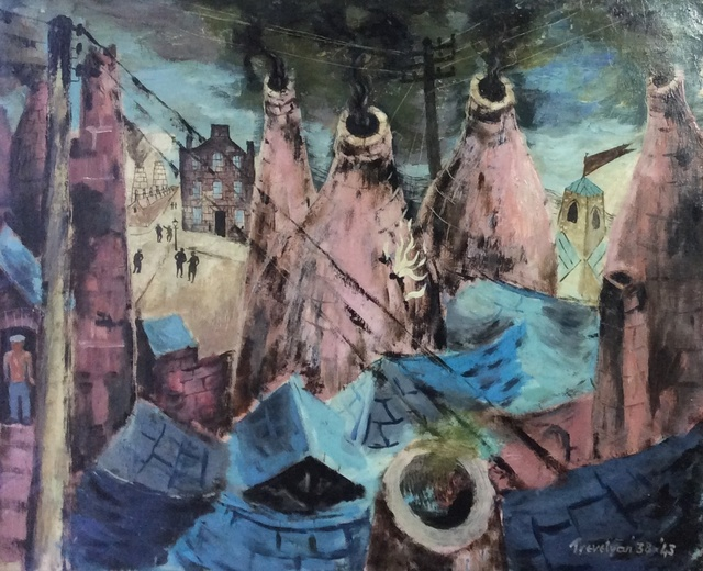 , 'Kilns at Burslem,' 1938-1943, Jenna Burlingham Fine Art