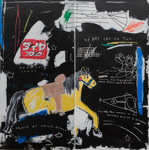 , 'Going To The Moon (Diptych),' 2019, Black Book Gallery
