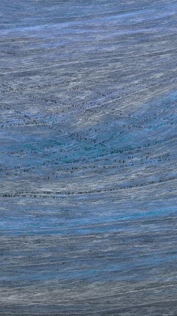 , 'Blue Field,' 2018, Pace Gallery