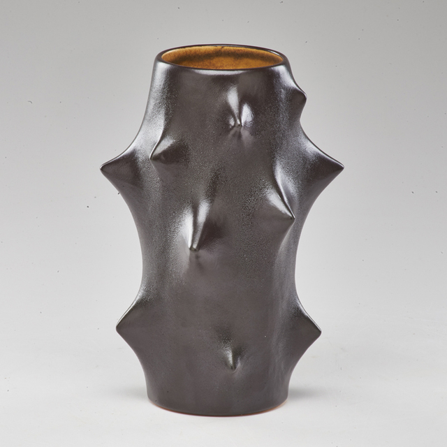 "Knud Basse, 'Black ""Rose Thorn"" vase', Rago"