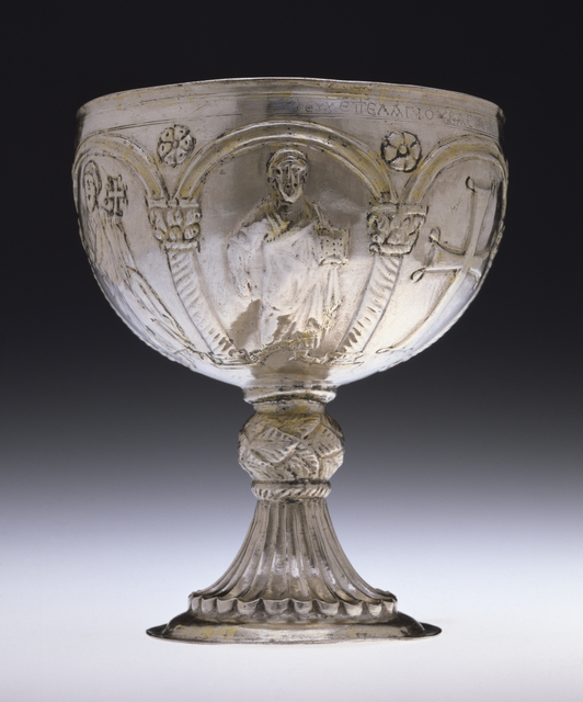 'Chalice with Apostles Venerating the Cross', Early 7th century, Walters Art Museum