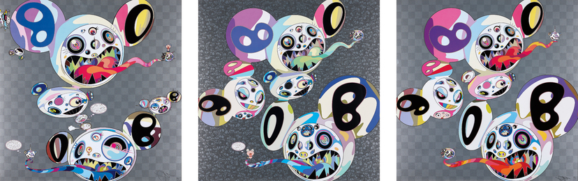Takashi Murakami, 'Parallel Universe; Spiral; and The World and the World Beyond,' 2013-2014, Phillips: Evening and Day Editions