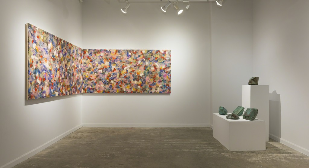 """John Torreano: """"Dark Matters Without Time"""" (installation view, Lesley Heller Gallery, New York), 2018"""