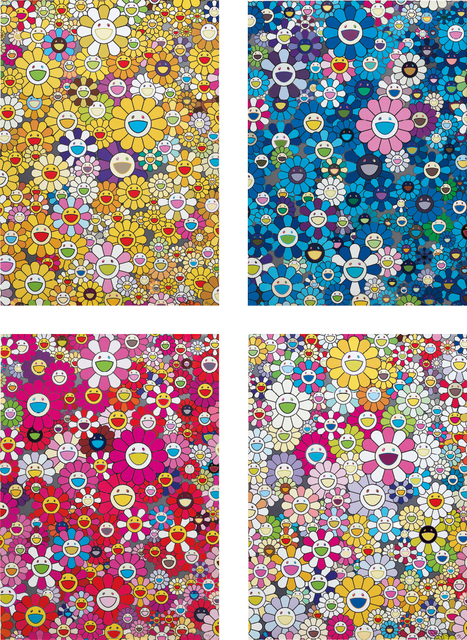 Takashi Murakami, 'An Homage to Monogold 1060 B; An Homage to IKB 1957 B; An Homage to Monopink 1960 B; and An Homage to Yves Klein, Multicolor B', 2012, Phillips