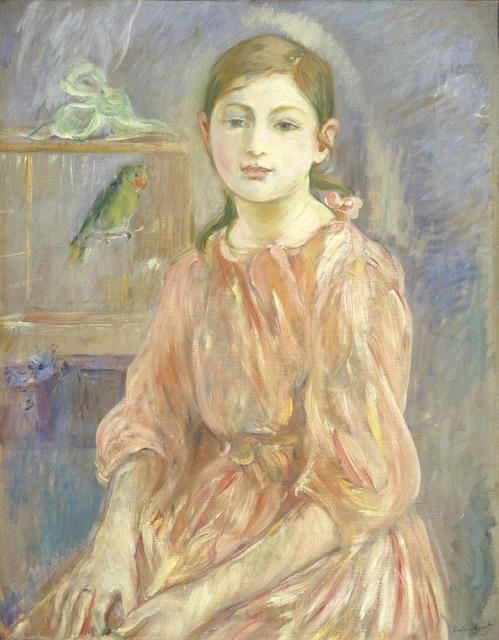 Berthe Morisot, 'The Artist's Daughter with a Parakeet', 1890, National Gallery of Art, Washington, D.C.