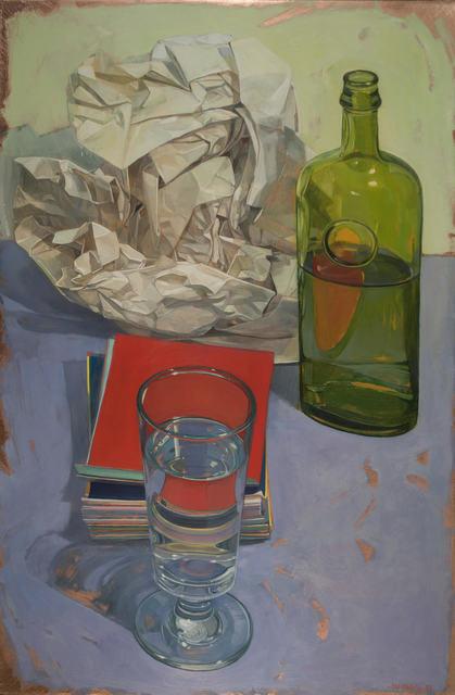 , 'Coloraid with Newsprint,' 2017, LeMieux Galleries