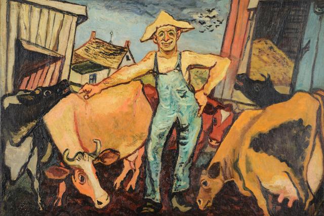 , 'The Happy Farmer,' ca. 1935-40, Caldwell Gallery Hudson