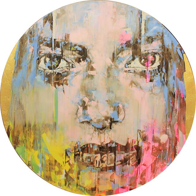 Marco Grassi, 'Kameo 31', 2020, Mixed Media, Oil and gold leaf on aluminium, Taglialatella Galleries