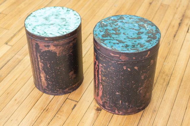 , 'Copper Skin Series Cylinder Stool/Side Tables,' 2014, Johnson Trading Gallery