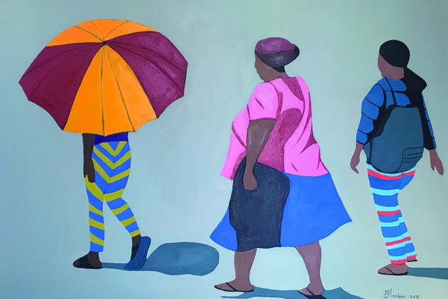Shakes Tembani, '3 Ladies and the umbrella', 2019, Opulent Living Gallery
