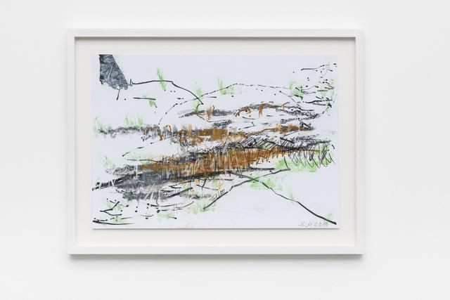 Sabine Moritz, 'Field I (brown/green)', 2017, Pilar Corrias Gallery