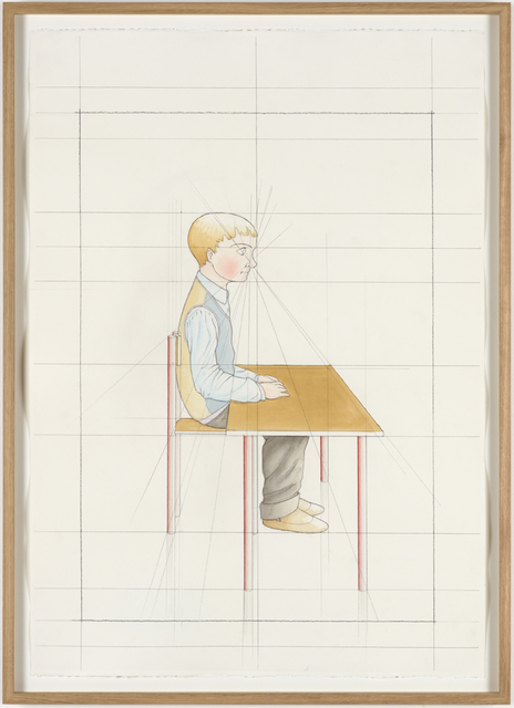 , 'An Attempt at Reconstructing my Elementary School Class, Based on my Memory (19),' 2012, Galleri Nicolai Wallner