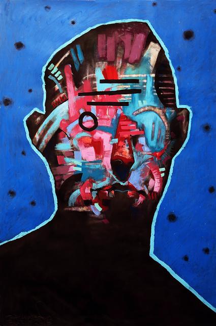 , 'Face on Blue,' 2018, ANNO DOMINI