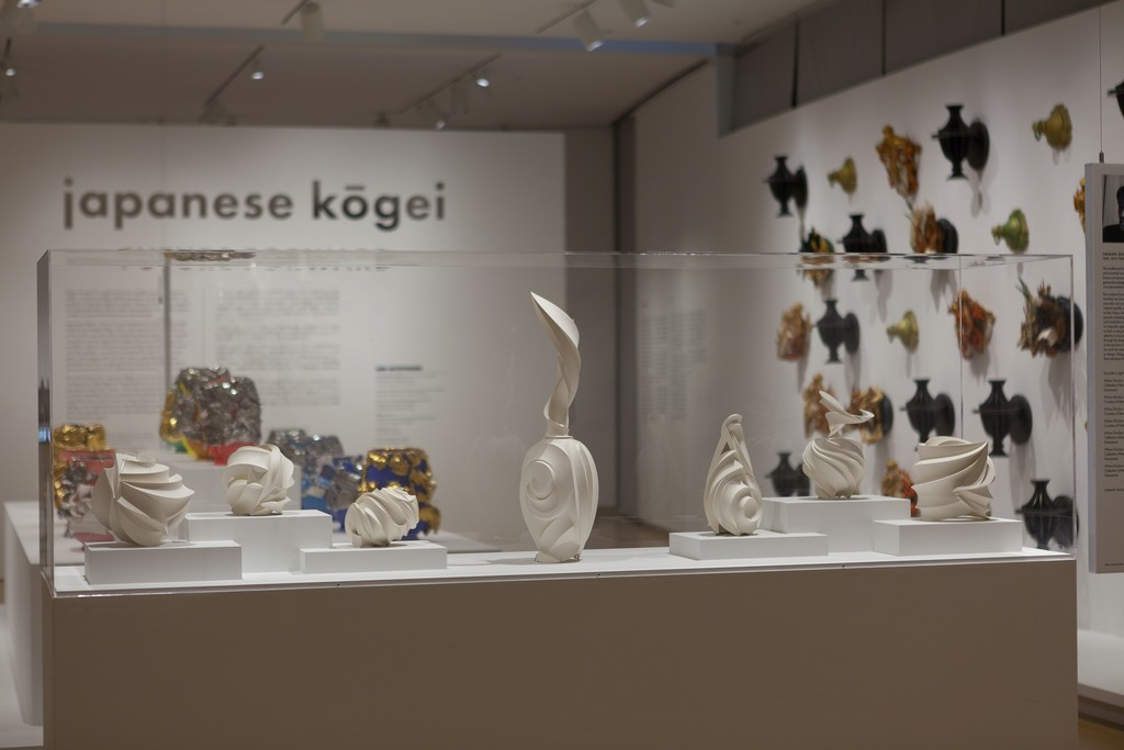 Installation view of 'Japanese Kōgei | Future Forward,' 2015 Photo by Butcher Walsh . Courtesy of the Museum of Arts and Design.