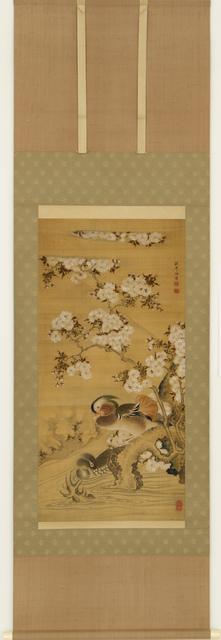 Nagasaki School, 'Pair of Mandarin Ducks (T-3652)', Edo period (1615, 1868), ca 1800, Erik Thomsen